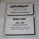Bendix King KA155 ICAO NAV FM Filter Installation manual KA-155 Allied Signal
