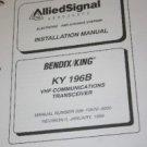 Bendix King KY196B VHF COMM Receiver Install/Maintenance/overhaul Manual