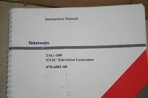 TSG-100 NTSC Televisio;n; Generator  Instructioln Manual