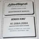 Bendix King ASCAS KI-208A/209A NAV Indicators Maintenance manual KI208A/KI209A