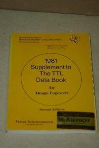 TI Texas Instruments 1981 Supplement to TTL Data Book fopr Design LCC5772