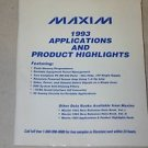 Maxim 1993 Product Catalog Guide Manual memory filters analog switches op amp
