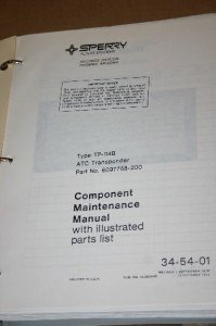 Honeywell TP-114B ATC Transponder Component Maintenance Manual XPDR