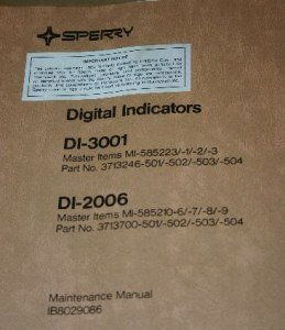 honeywell DI-3001/DI-2006 Indicators Maintenance manual IB8029086 Sperry RCA