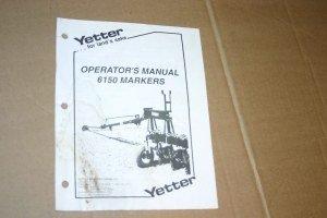Yetter 6150, Markers  Operators Manual