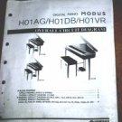 Yamaha MODUS H01AG/H01DB/HO1VR Digital Piano OverallCircuit Diagram