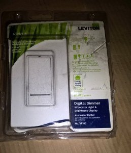 LEVITON VP106-1LW Digital Push On/Off Dimmer,600 Watts White R22-vPI06-1LW
