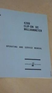 HP 428B Clip-On DC Milliammeter  Operating and Service Manual