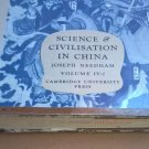 Joseph Needham Science And Civilization In China: book 1 of volume IV Physics