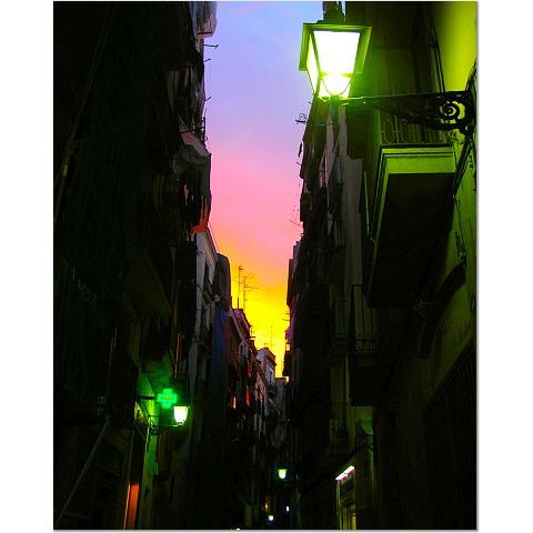 Barcelona Sunset 8x10 photo