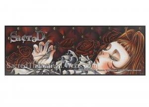 Sacred- Thornless Rose Cellphone Charm