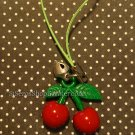 Cute CHERRY & bell cellphone charm
