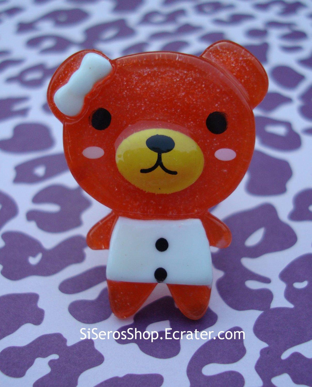 Summer Dress RED Teddy Ring