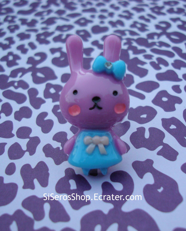 Summer Dress PURPLE Bunny Ring