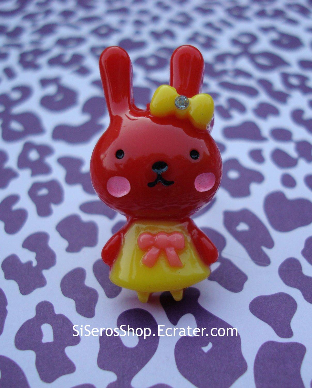 Summer Dress RED Bunny Ring