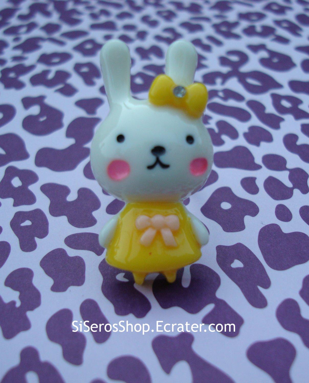 Summer Dress WHITE Bunny Ring