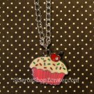 Cute pink CUPCAKE Necklace