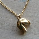 Fortune Cookie Charm Necklace