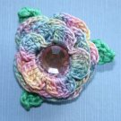 Crocheted Rose Brooch