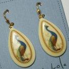 Vintage Peacock Earrings