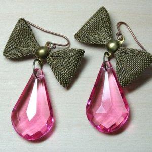 Vintage Bow Dangle Earrings