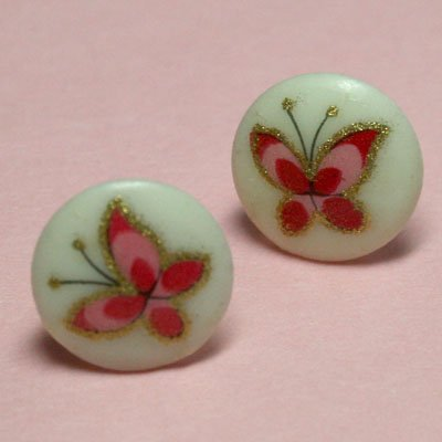 Vintage Butterfly Stud Earrings