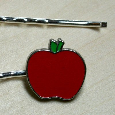 An Apple a Day Hair Clips