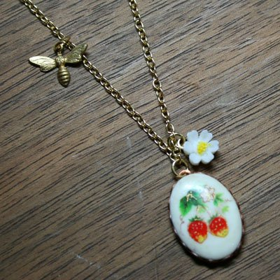 Strawberry Patch Charm Pendant