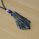 Lampwork Leaf Pendant Nursing Necklace