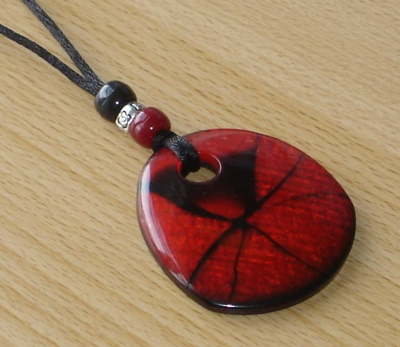 Ruby Crackle Nursing Necklace