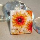 Sunshine Flower Tile Pendant Necklace (6)
