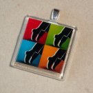 Michael Jackson Pop Art Glass Tile Pendant