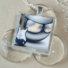Cool Rocker Dude Glass Tile Pendant