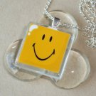 Happy Smile Glass Tile Pendant