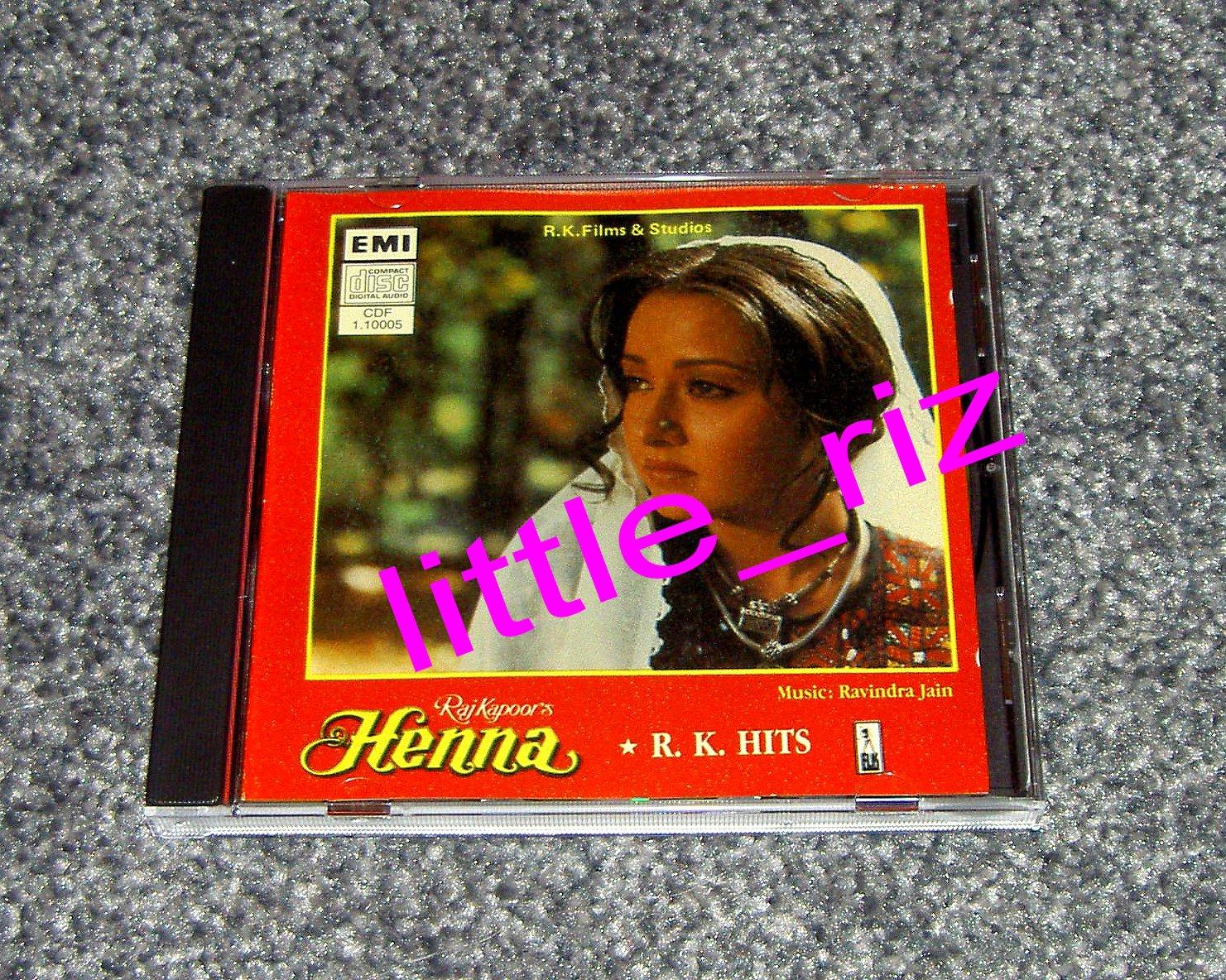 **HENNA** Bollywood/Indian Soundtrack CD EMI Made in UK New Lata Mangeshkar