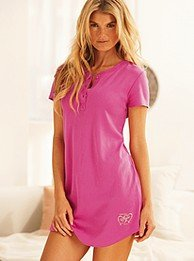 Signature Cotton henley sleepshirt