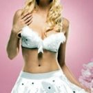 Snowflake Sequined Bra and Skirt Set