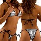 Metallic Triangle Bikini (Silver or Hot Red)