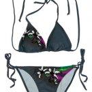Floral Print Bikini with Tie Side Bottom