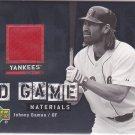 2006 Upper Deck UD Game Materials Johnny Damon