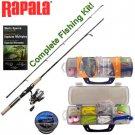 Rapala Spinning Rod & Reel Combo Kit  new