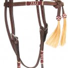 Futurity Rawhide Horse Headstall with Tassels
