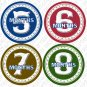 CIRCLES ONESIE STICKERS baby shower gift by Onesie Stickers, Free Milestone Stickers