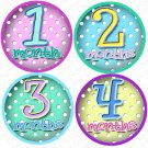 DOTS ONESIE STICKERS baby shower gift by Onesie Stickers, Free Milestone Stickers