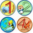 JUNGLE ZOO BUDDIES ONESIE STICKERS scrapbook photos by Onesie Stickers, Free Milestone Stickers