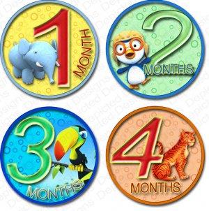 JUNGLE ZOO BUDDIES ONESIE STICKERS scrapbook photos by Onesie Stickers, Free Milestone Stickers