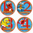 SESAME STREET ONESIE STICKERS elmo, big bird by Onesie Stickers, Free Milestone Stickers