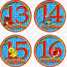 SESAME STREET MONTHLY ONESIE STICKERS 13-24 MONTHS, big bird, cookie monster, elmo