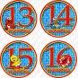 SESAME STREET MONTHLY ONESIE STICKERS 13-24 MONTHS, big bird, cookie monster, elmo