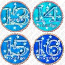 TWILIGHT STARS ONESIE STICKERS blue, 13-24 months, baby scrapbook stickers